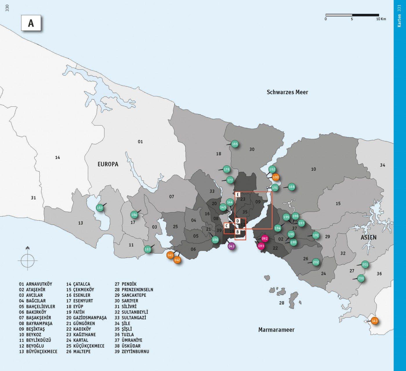 Die Karte. Übersicht der Stadtteile und Projekte.