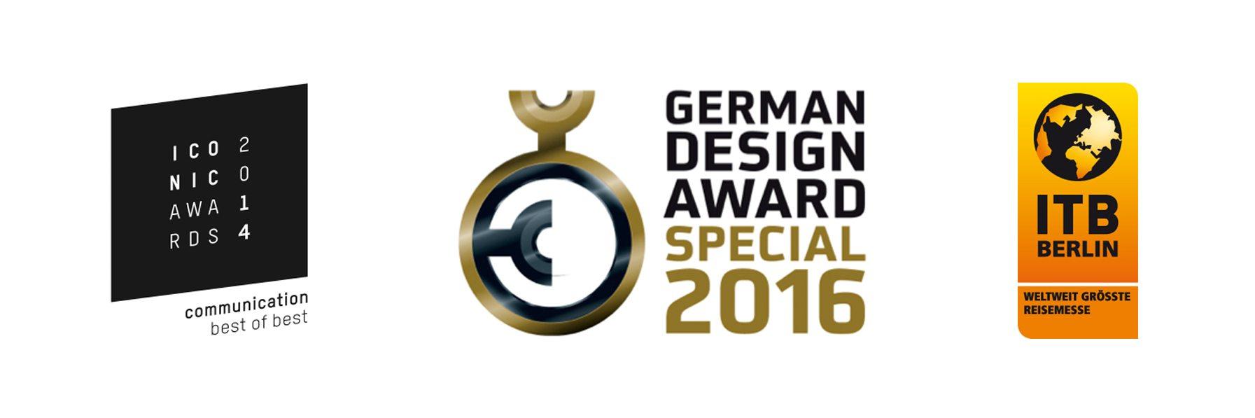 Würdigungen:. Iconic Award 2014, German Design Award 2016, ITB BookAward 2017 für die Architekturführer-Reihe von DOM publishers, insbesondere für den Architekturführer Vereinigte Arabische Emirate