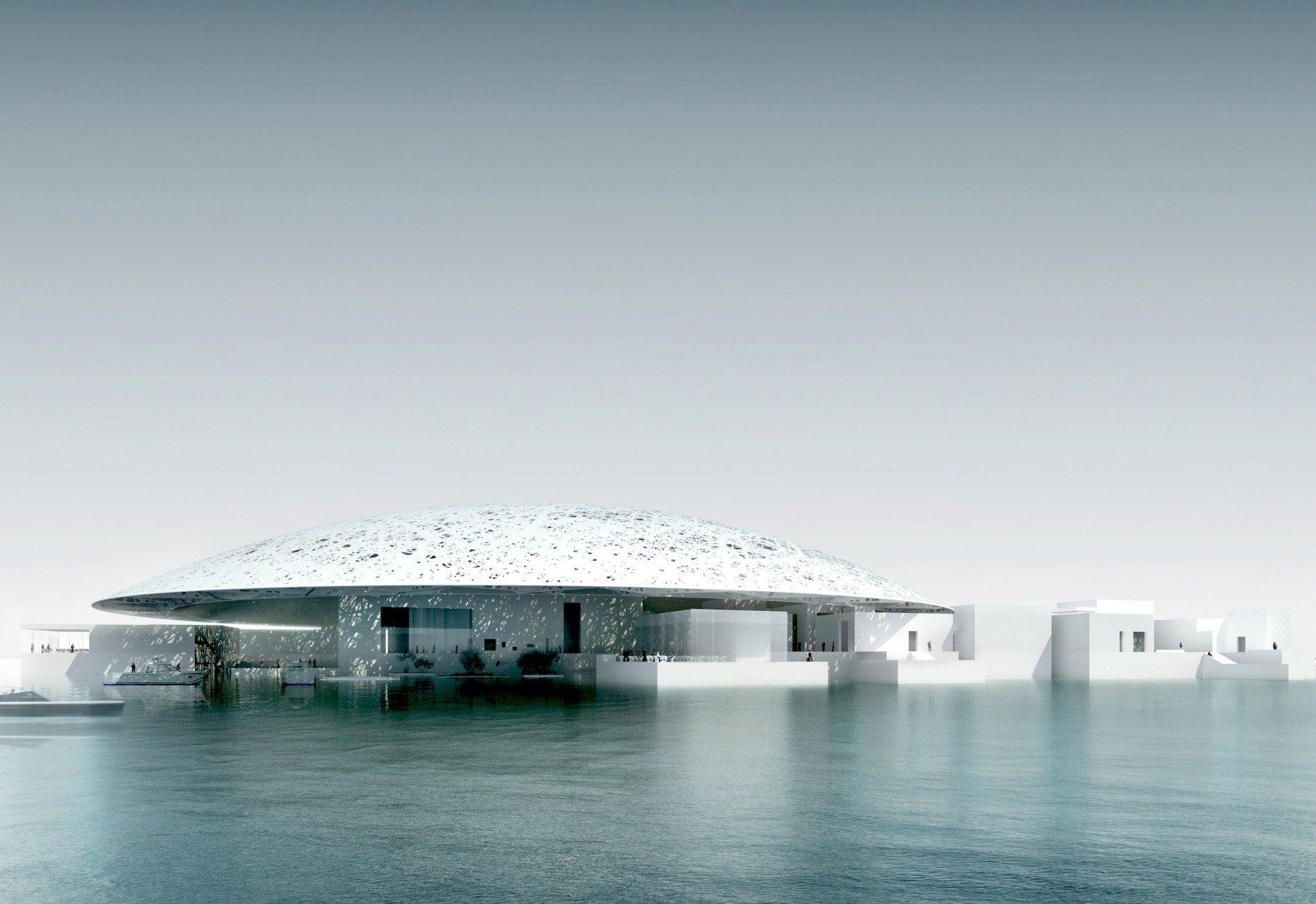 Lichtkuppel. Das Museum ist von drei Seiten vom Meer umschlossen.