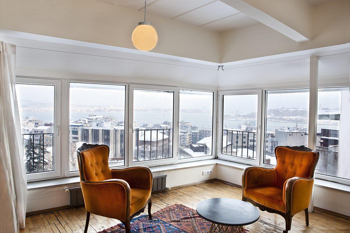 Rundumblick. Manzara Istanbul-Zimmer mit Aussicht.