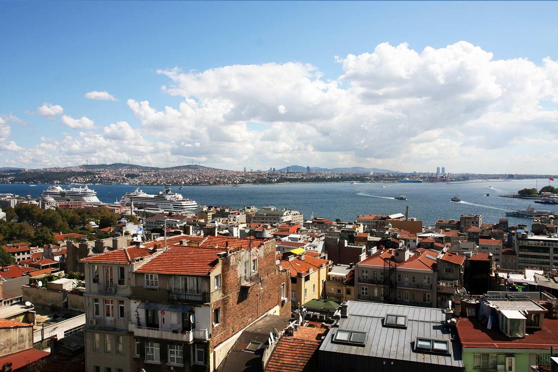 Das Panorama. Blick auf den Bosporus.