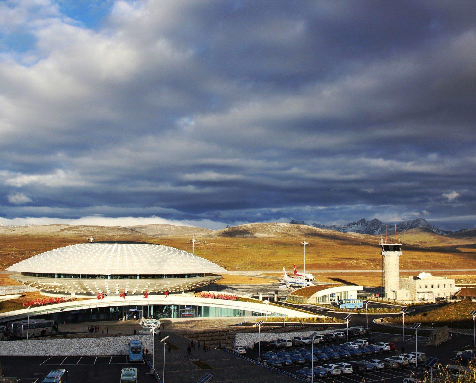 DCY.  Daocheng Yading Airport, Sangdui, Tibet. Von GUD Group.