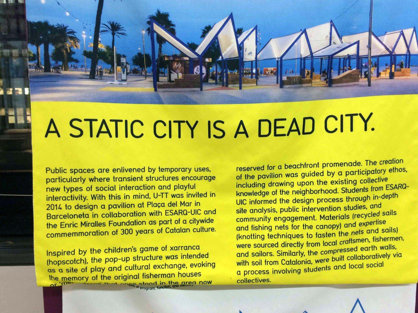 Xarranca, Barcelona. Eine statische Stadt, ist eine tote Stadt.
