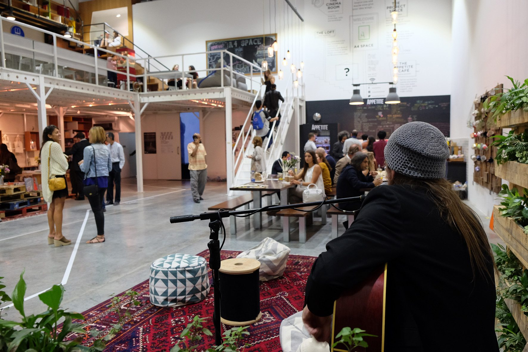 Appetite Café. Und auch Veranstaltungsort für Musiker.