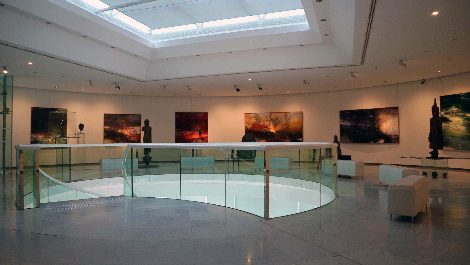 Im Himmel. Der Raum für religiöse Kunst im Obergeschoss zeigt den Buddhismus als einigendes Element der ostasiatischen Kunst.
