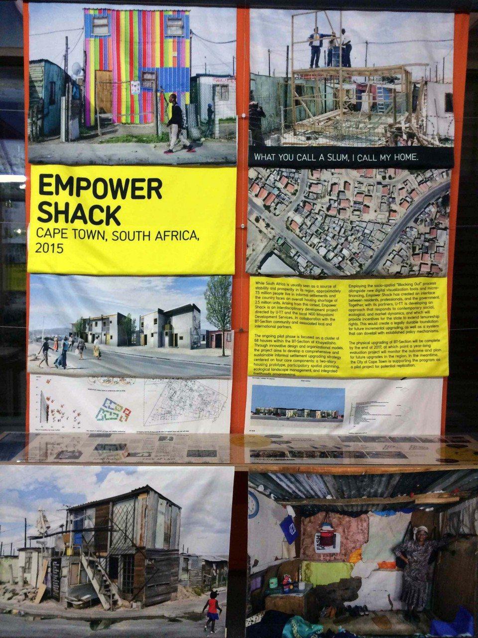 Empower Shack, Kapstadt. Prototypische Häuser als nachhaltige Strategie der Siedlungsverbesserung.