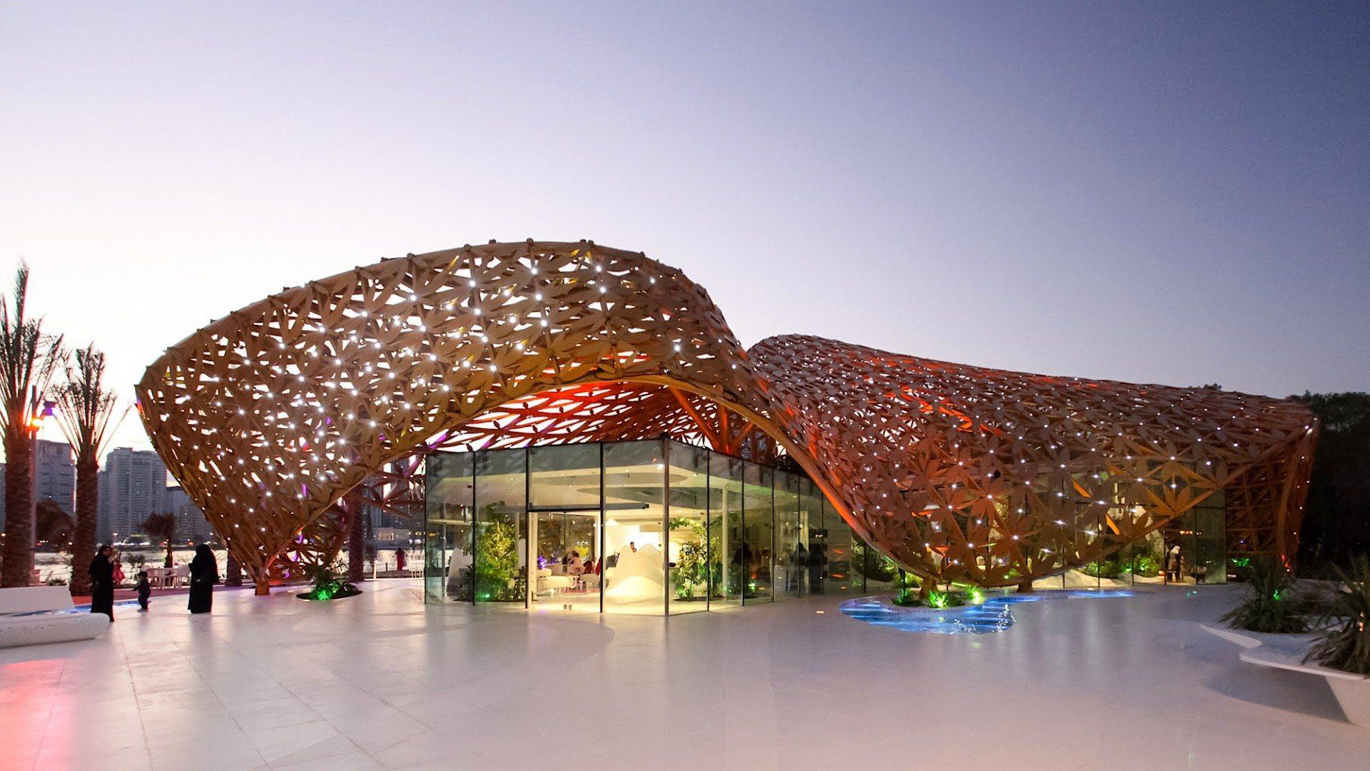 Butterfly Pavilion.  Abendstimmung