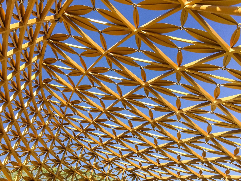 Butterfly Pavilion.  Himmel und Ornamentik