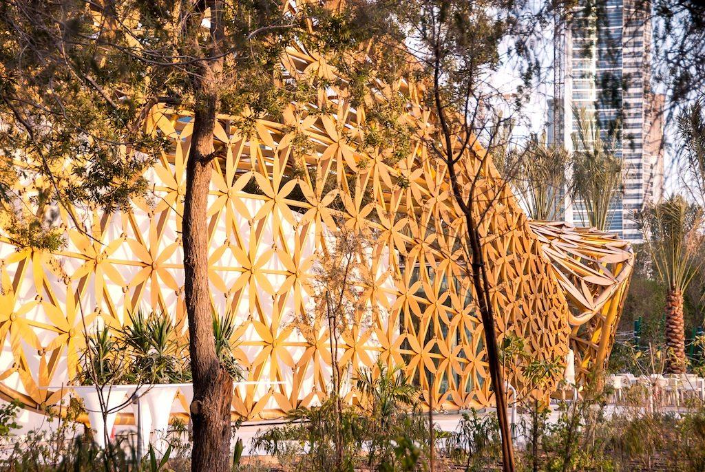 Butterfly Pavilion. Seitenansicht