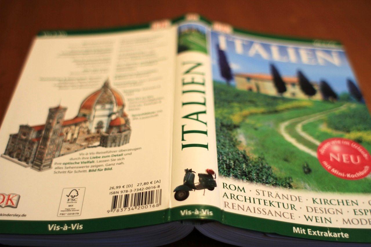 Cover und Rückseite. des Italienbuchs