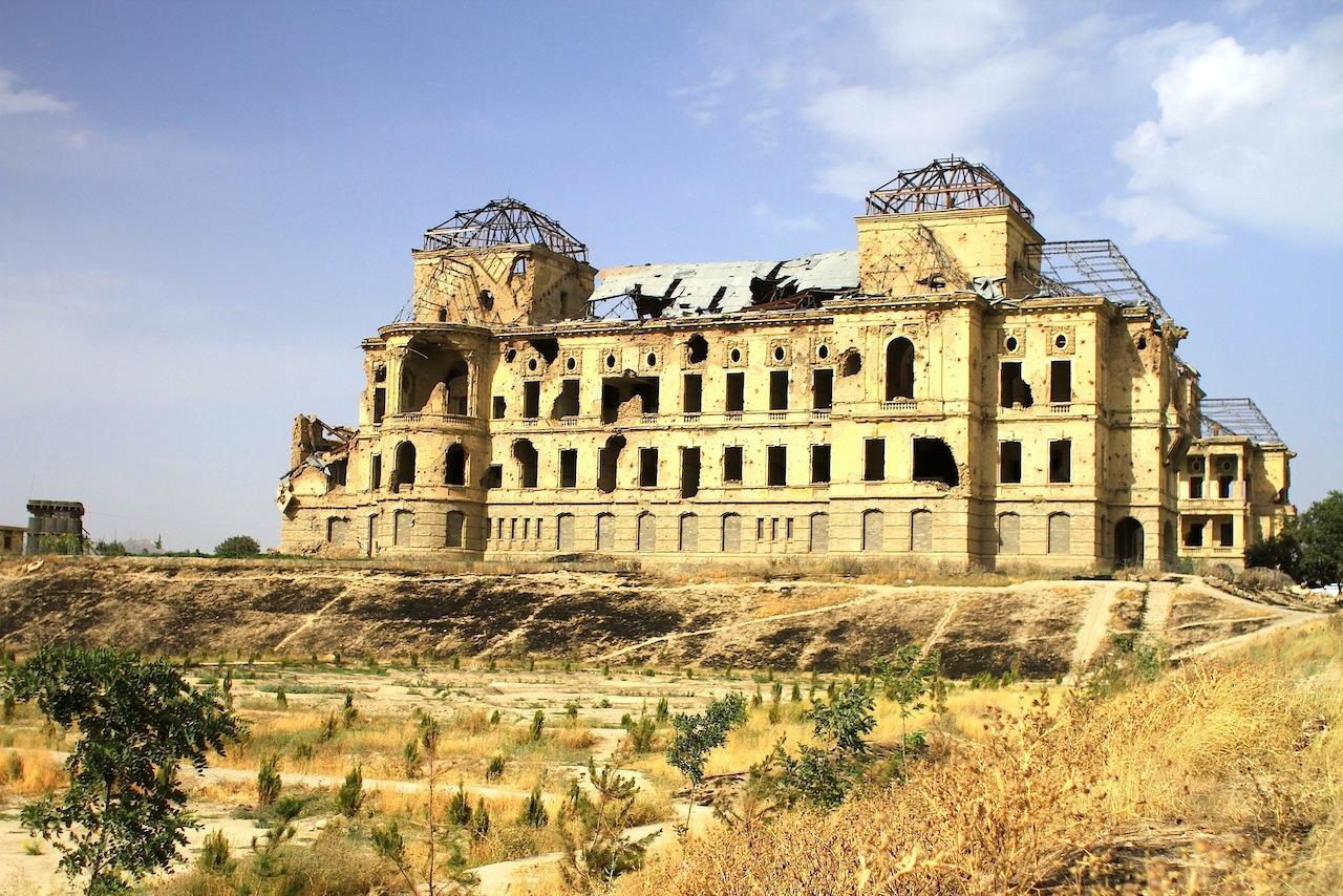 Der Dar-ul-Aman Palast.  Von Walter Harten