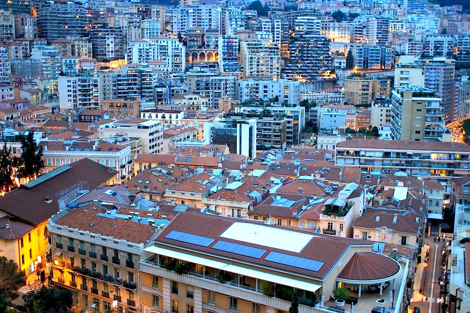 Monaco.  Mini-Manhattan
