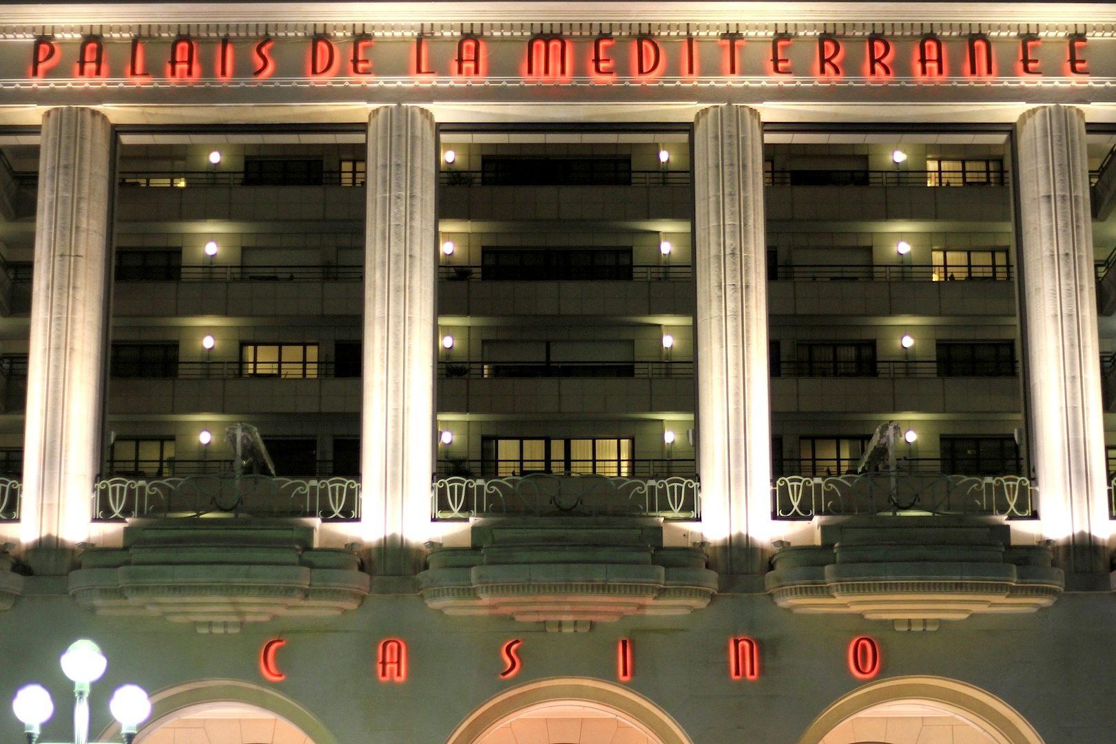 Palais de la Méditerranée. Fünfsternehotel, gehört zu Hyatt Regency, Nizza