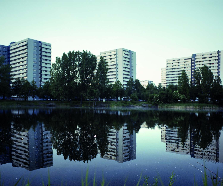 Die Millennium-Siedlung. In Kattowitz. Entworfen von Hendryk Buszko und Aleksander Franta, erbaut 1961