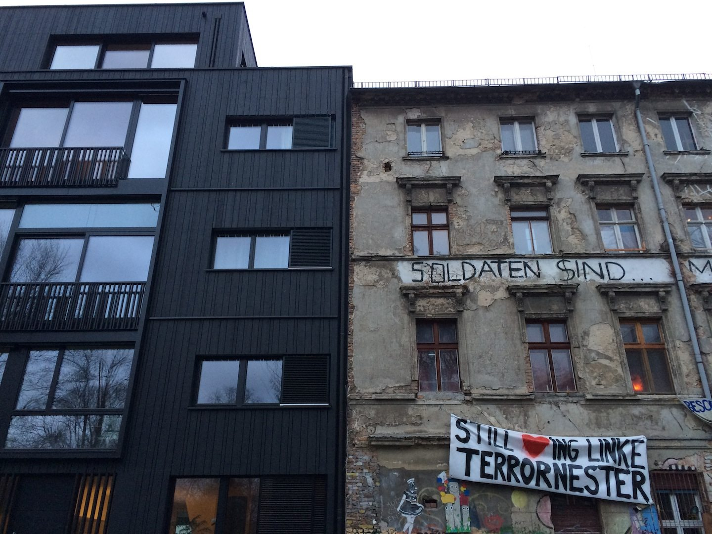 "Brand new and very old. Squat (""besetztes Haus"") in Berlin-Mitte"