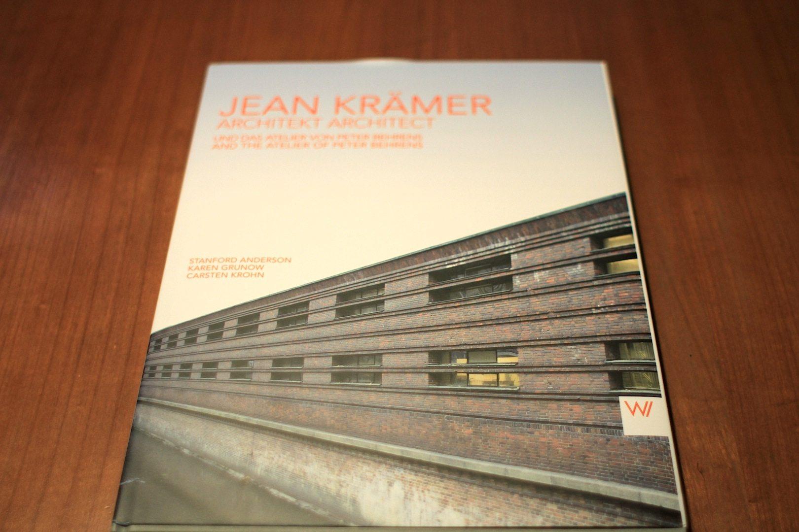 """""""Jean Krämer Architekt / Architect"""".  Cover des in der Weimarer Verlagsgesellschaft erschienenen Buchs"""