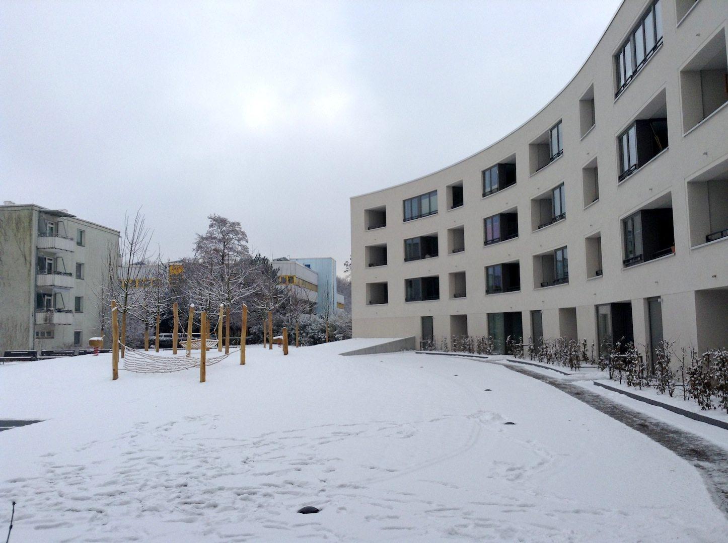 New residential construction. In the settlement Schiller Park