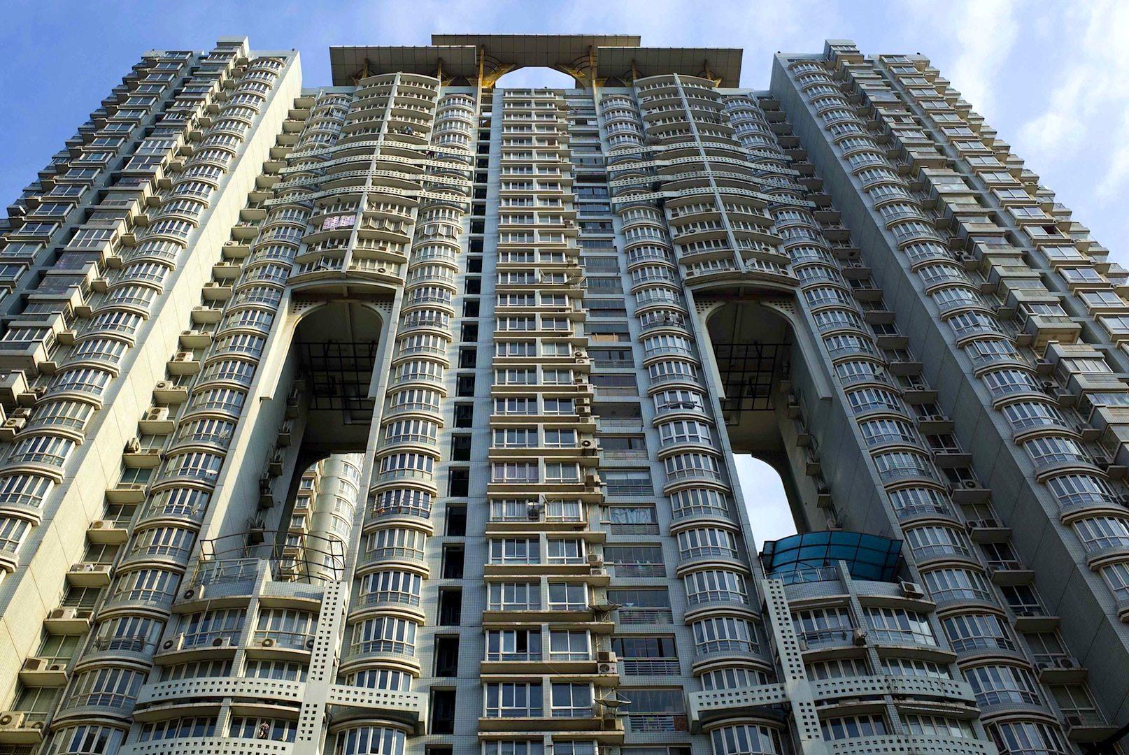 Wohn- und Bürotürme in Shanghai.