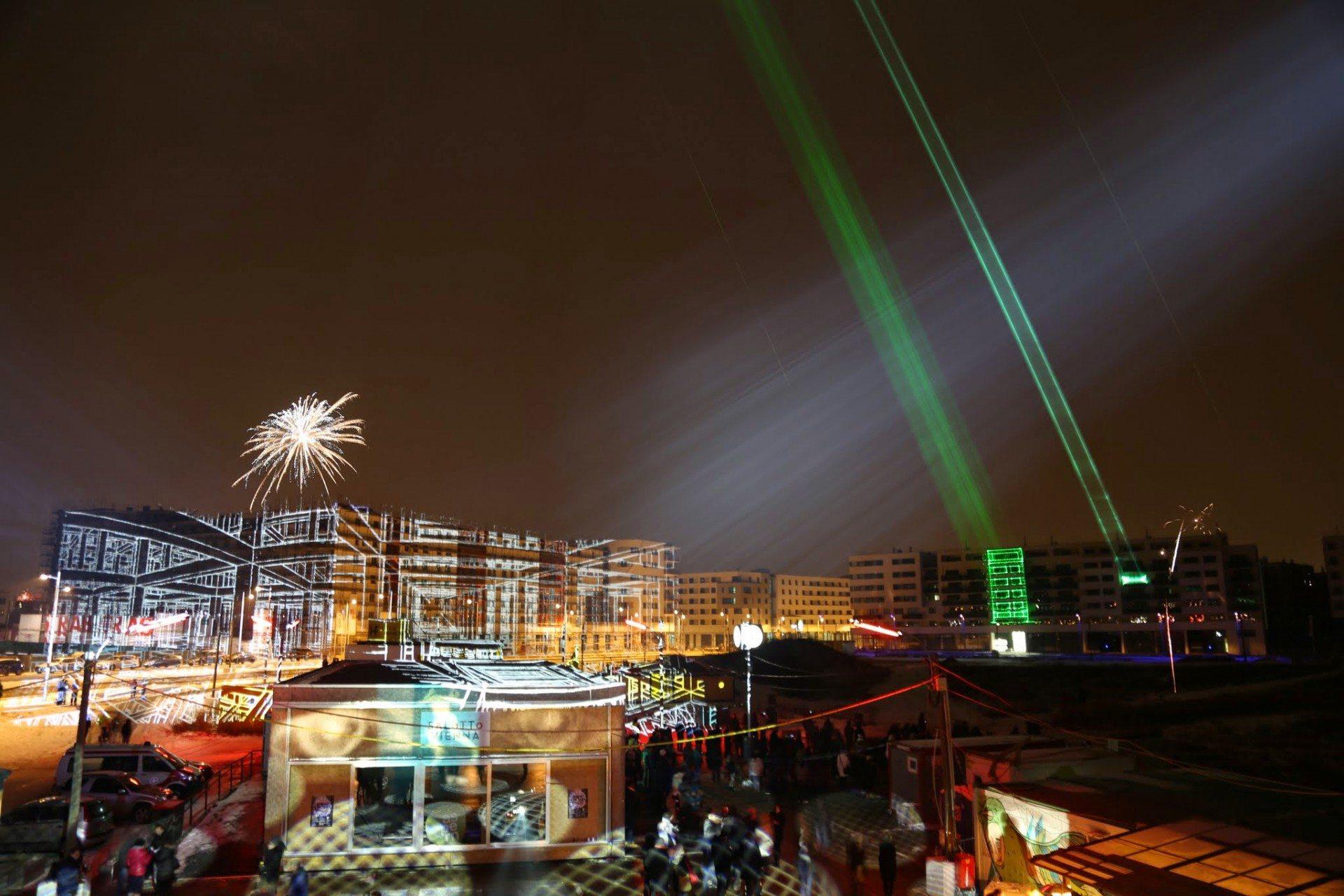 Aspern Seestadt. Multimediales Silvester und Start ins Jahr 2016 mit dem Kunstfestival Salotto Vienna
