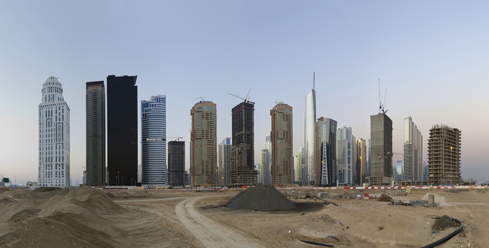"Die Türme.  25°03'39""N, 55°08'35""E: Jumeirah Lake Towers, 2013, 120 x 60cm"