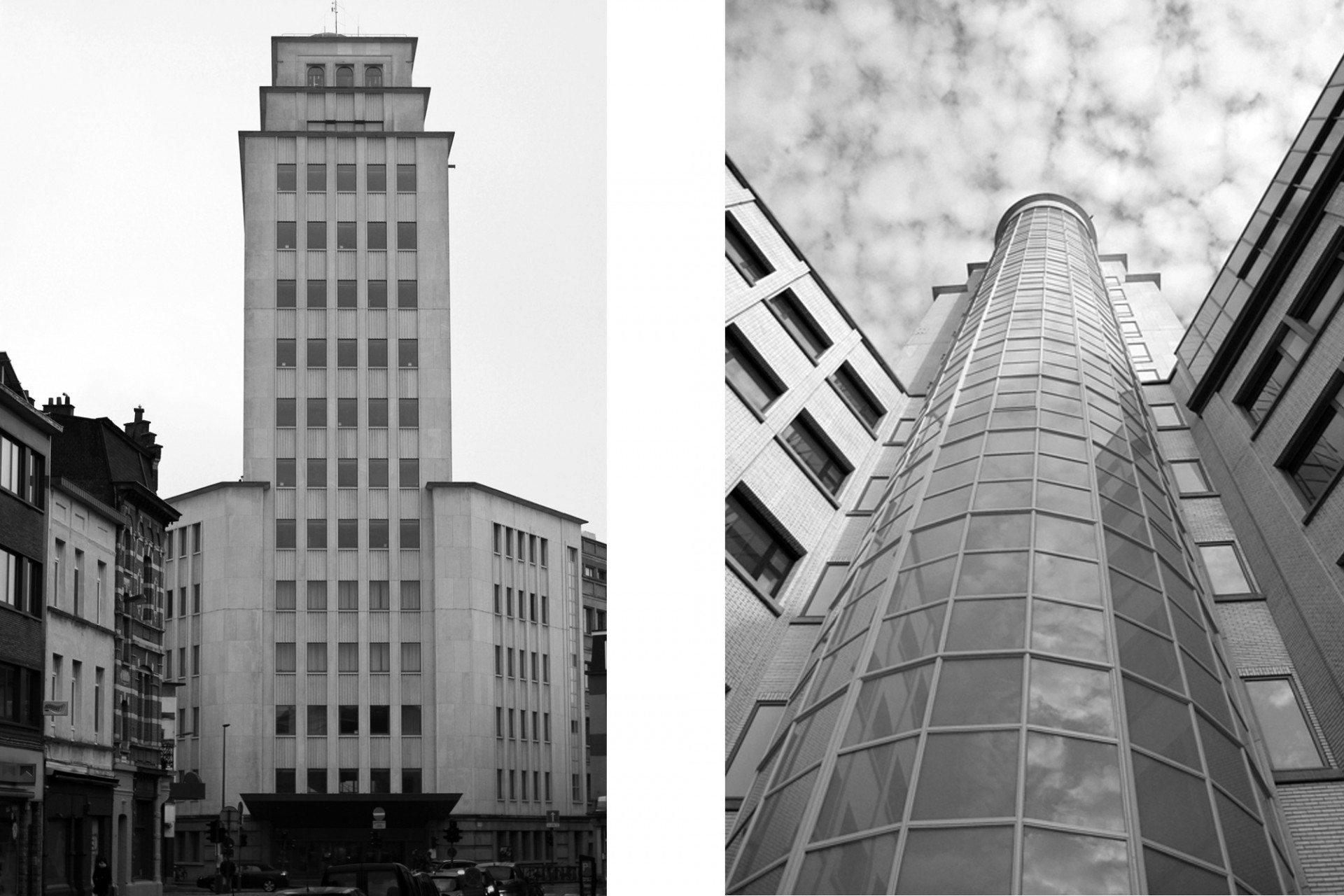 Funktional. Der geschätzte belgische Funktionalist Hugo Van Kuyck errichtete den Bell Tower in den 1960er-Jahren. Das Gebäude wurde ursprünglich für die Telefongesellschaft Alcatel errichtet. Seit 2009 befinden sich in der renovierten Gebäudegruppe Verwaltungseinrichtungen der Stadt.