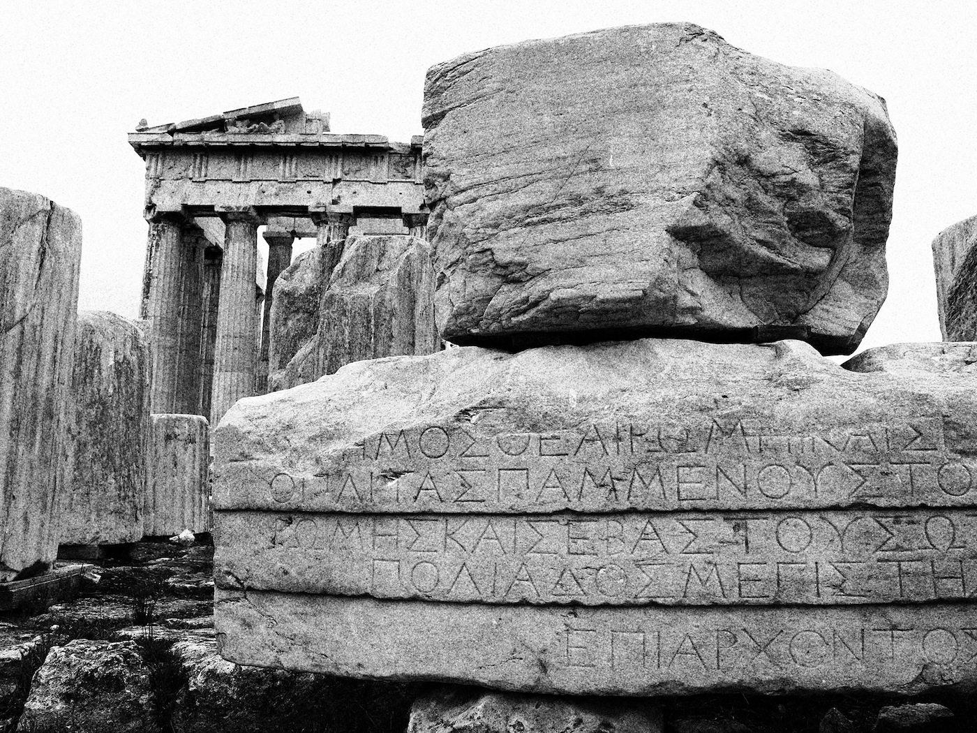 Die Akropolis.  Großbaustelle und immer werdende Ruine.