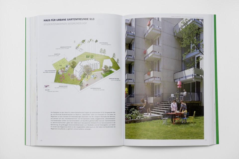 """Luft und Kräuter.  Freiluftwohnzimmer und Kräutergärten stehen allen Bewohnern des """"Hauses für urbane Gartenfreunde"""" zur Verfügung."""