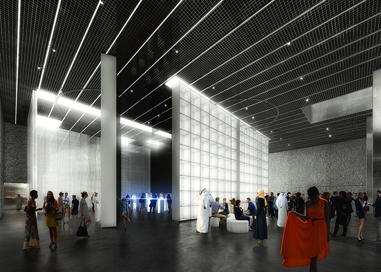 Verdreht und verschoben.  Vier verschiebbare und drehbare Wände bestimmen den flexiblen Grundriss.