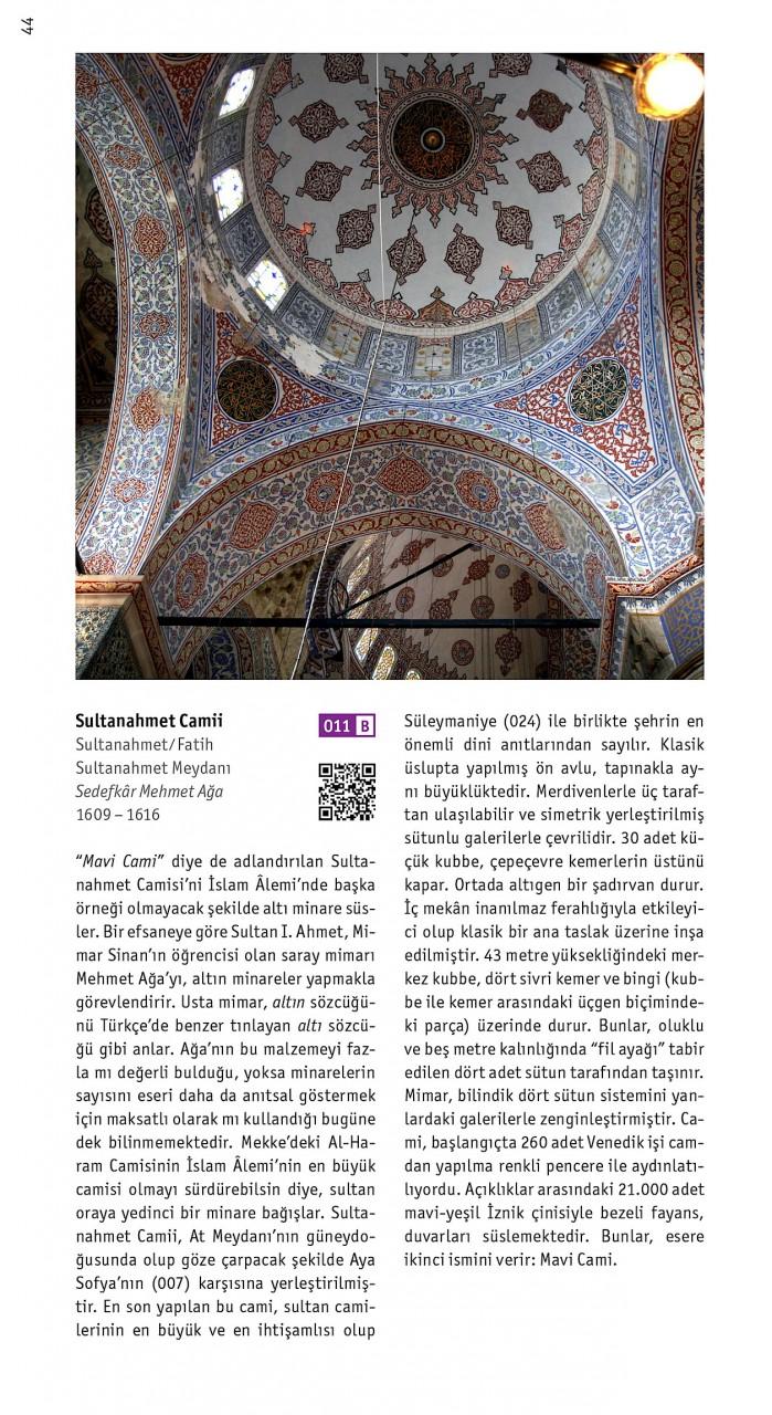 Istanbul mimarlik rehberi. Sultanahmet Camii