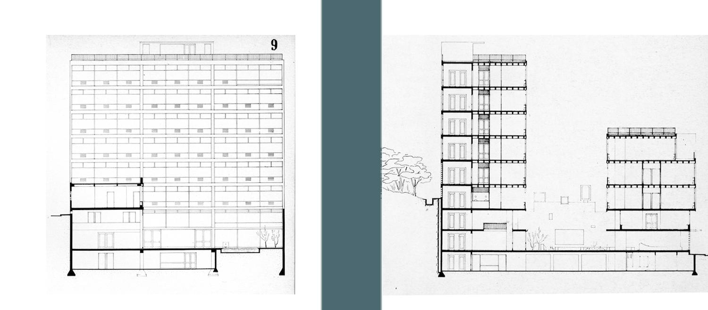 Mini-Entopia.  Der Büro-Komplex bestand aus drei verschiedenhohen Baukörpern, die einen zentralen Innenhof umschließen.