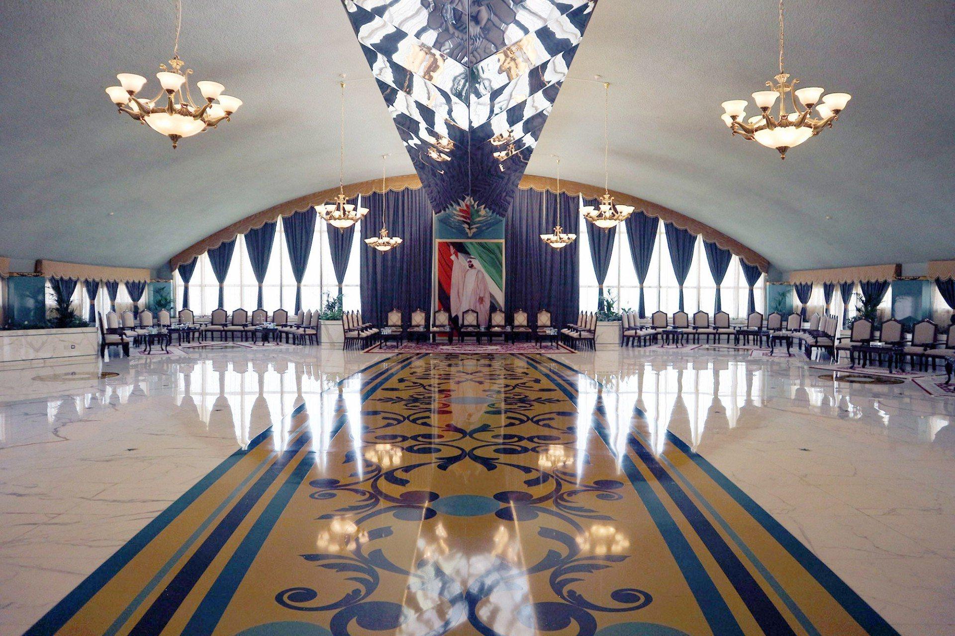 """Exklusiv.  Die """"Lesser Tunb Hall"""" in der ersten Etage des Hauptgebäudes."""