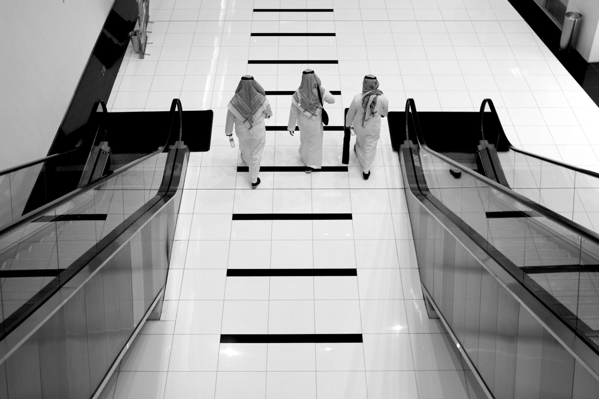 Vertical and horizontal.  Visitors of the ADIBF
