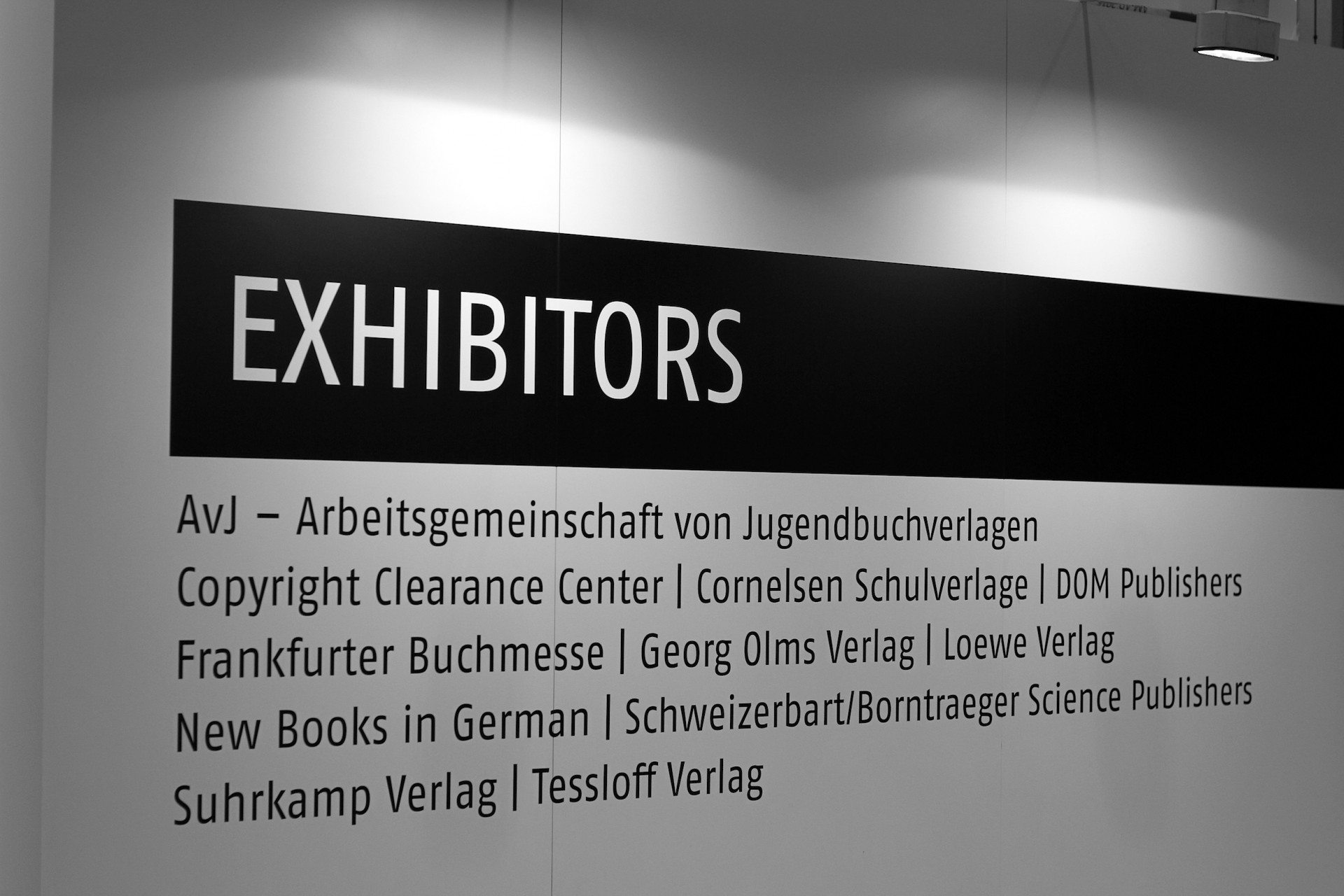 Print and publishers.  At the German pavilion of the ADIBF