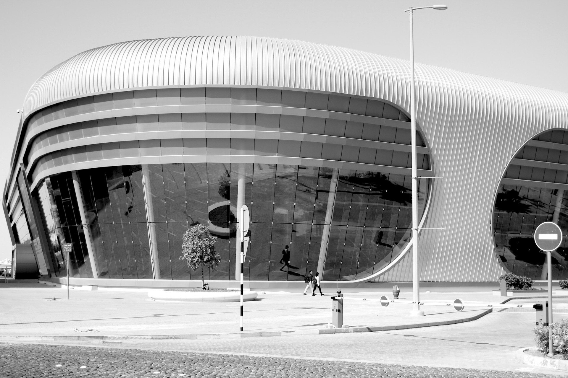 Halls and height.  The ADNEC complex was designed by RMJM Architects.
