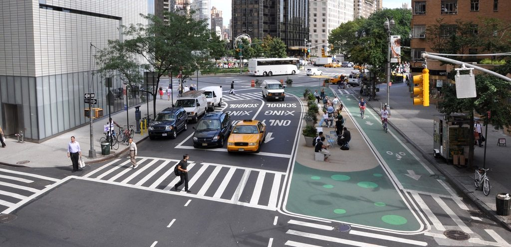 Columbus Circle, New York City.  After