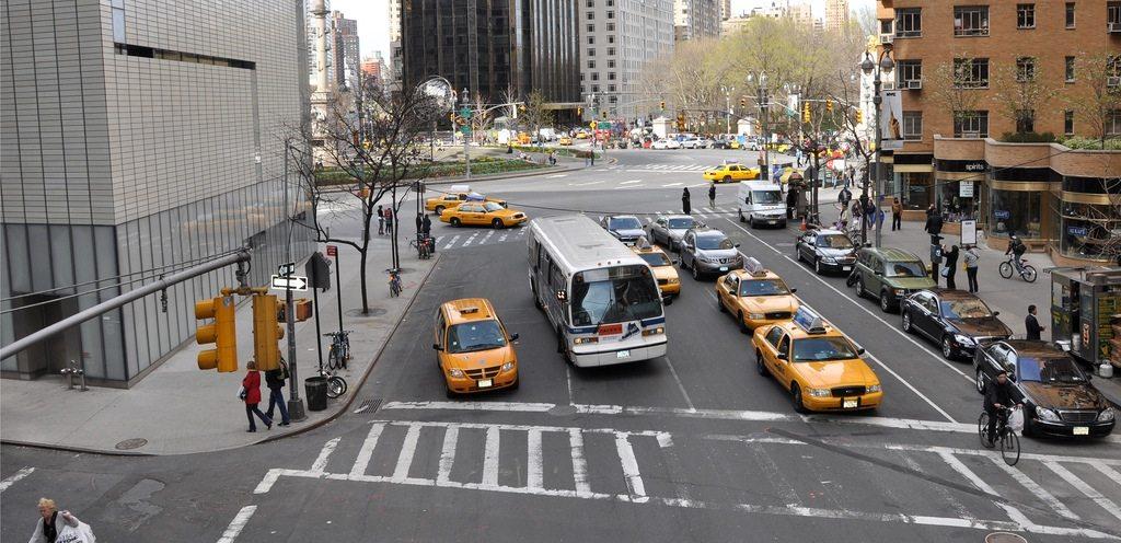 Columbus Circle, New York City.  Before