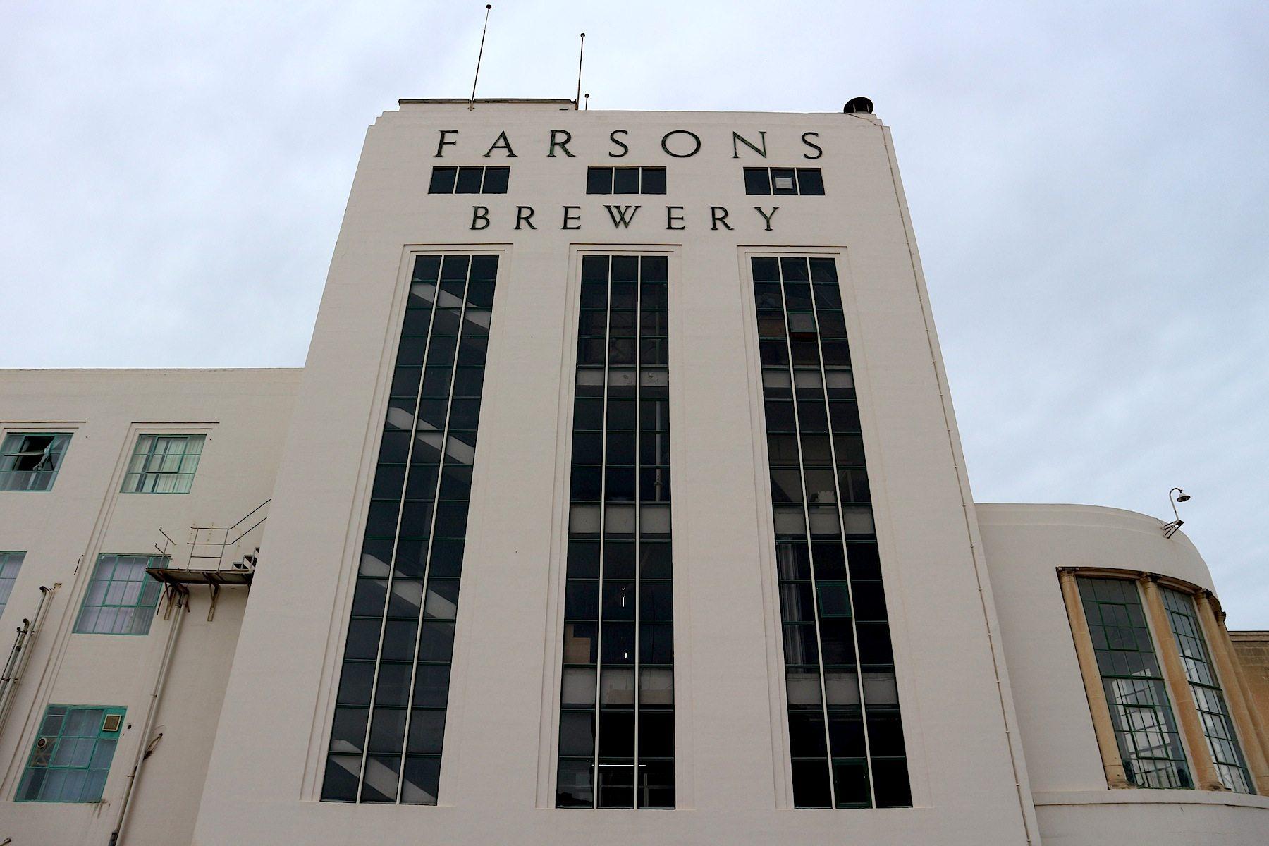 Symmetrisch. Das 1950 in Betrieb genommene Brauereigebäude soll zum Besucherzentrum umgebaut werden.