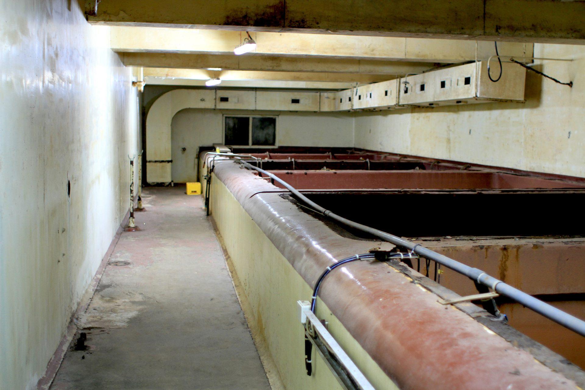 Museal. Einer der Beckenräume, die ebenfalls umgebaut werden sollen.