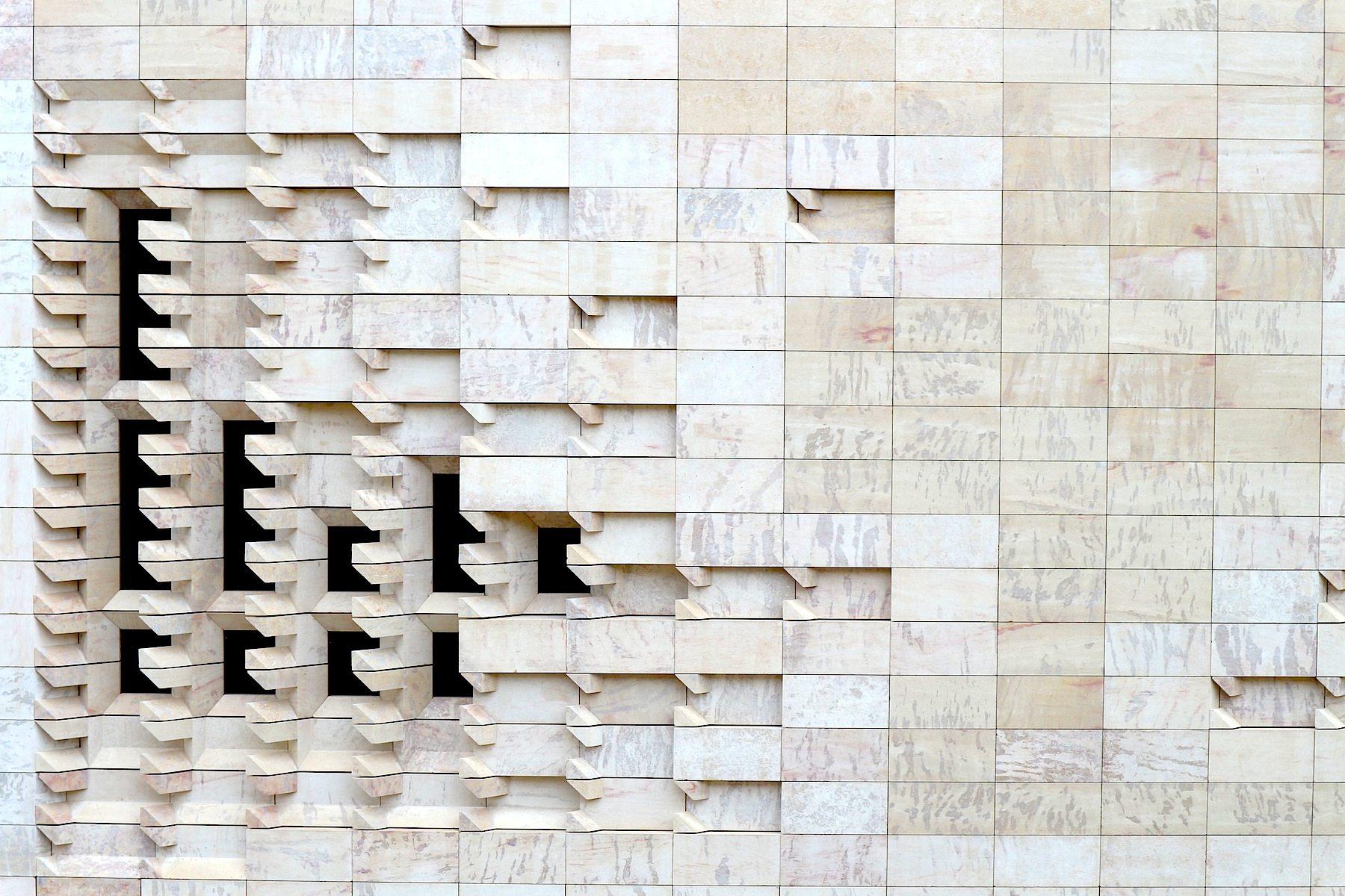 Parlament mit Fassadendetail, Valletta.