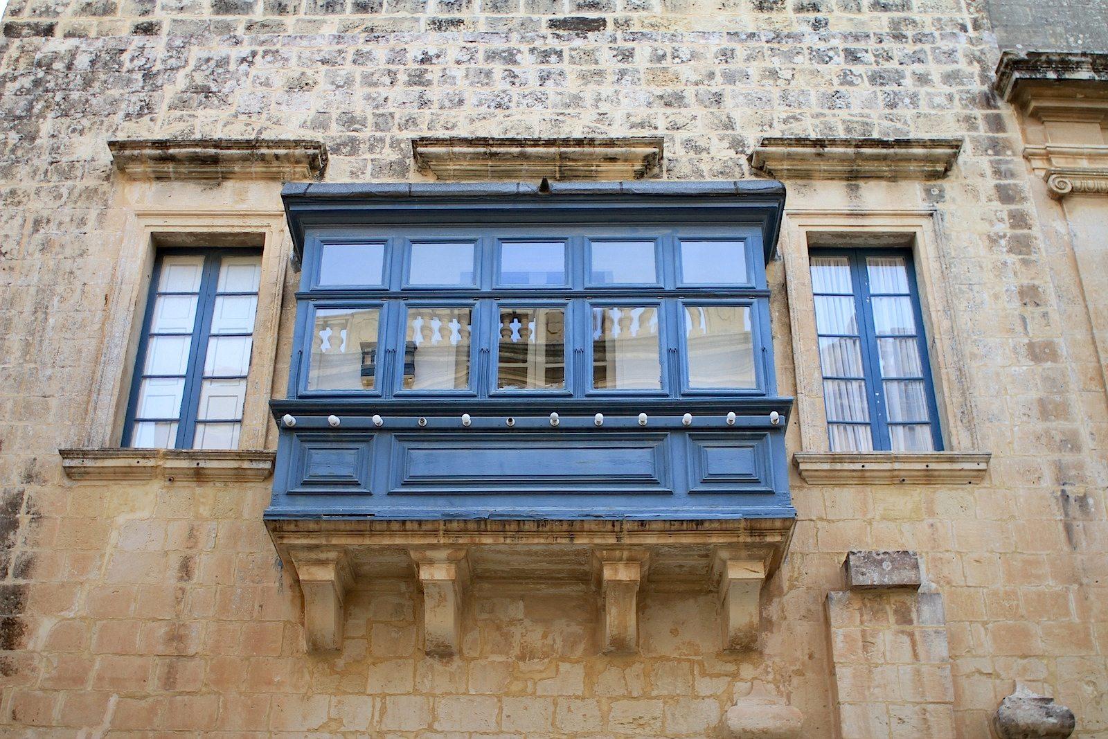 .  Gallarija in der Mittelalter-Stadt Mdina