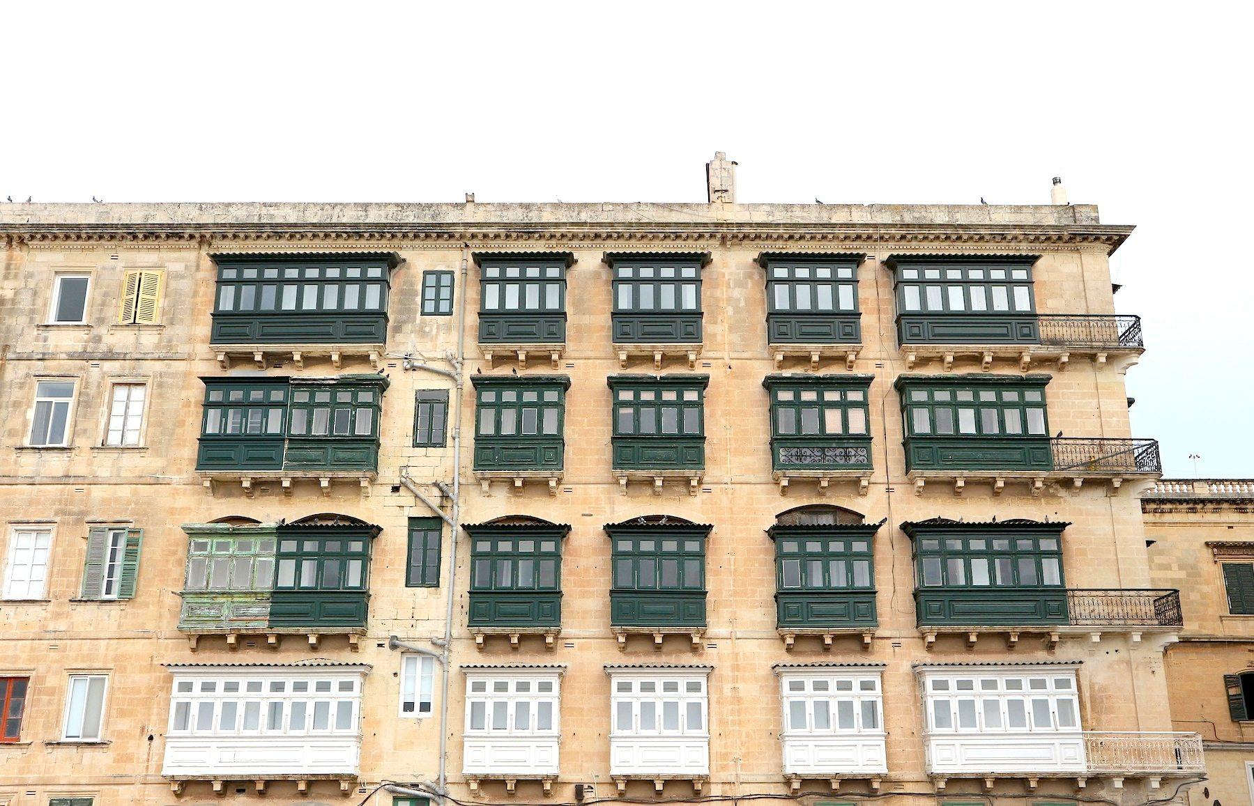 Gestaltung und Geschichte der maltesischen Balkone