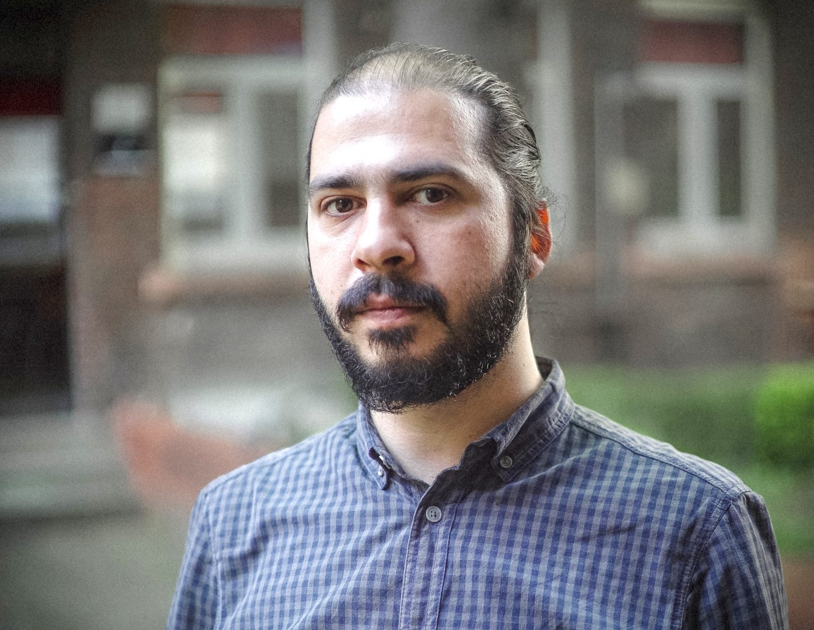 Waref Abu Quba. Filmmaker from Syria, in Darmstadt since 2011