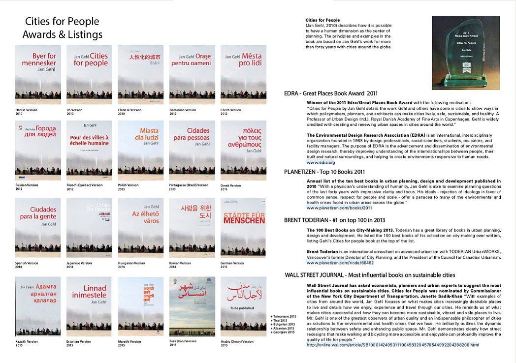Städte für Menschen.  ... und erhielt bereits eine ganze Reihe von Auszeichnungen.