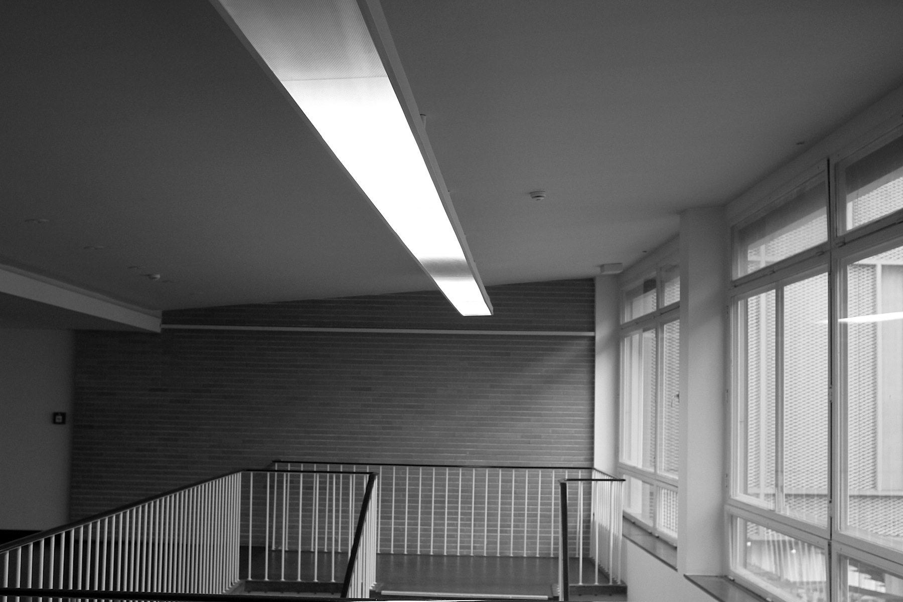 Linienführung. Im Obergeschoss