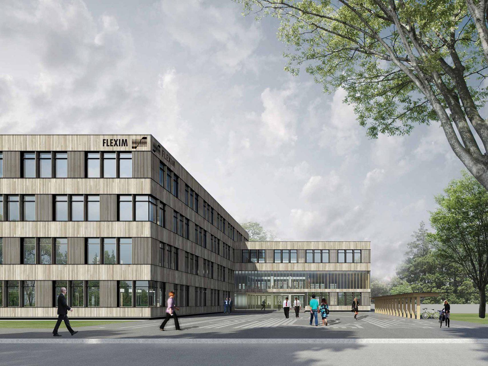 Neubau Firmengebäude Flexim, Berlin. Bauherr: Flexim GmbH, Fertigstellung Ende 2016