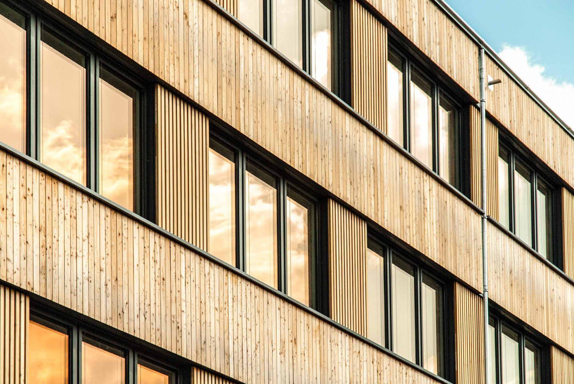 Neubau Firmengebäude Flexim, Berlin. Architektur: Roswag Architekten. Tragwerksplanung: Ziegert | Seiler Ingenieure und IBRF GmbH