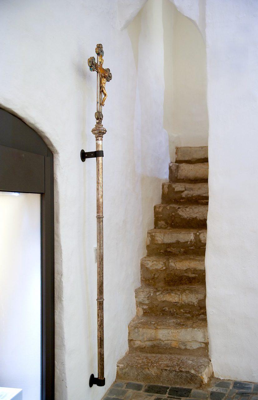 Treppe zur Schatzkammer.  Nach dem Umbau und der Wiedereröffnung 1993
