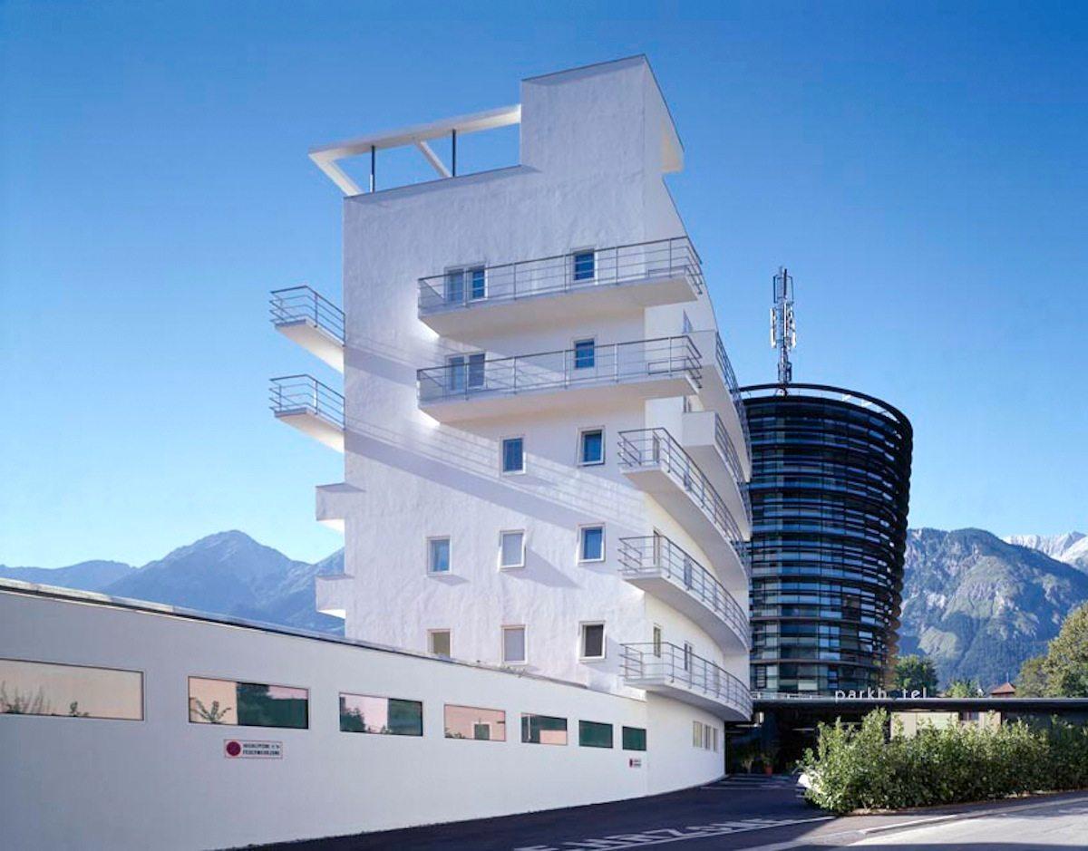 Turmhotel Seeber / Parkhotel Hall. Lois Welzenbacher / Henke Schreieck Architekten
