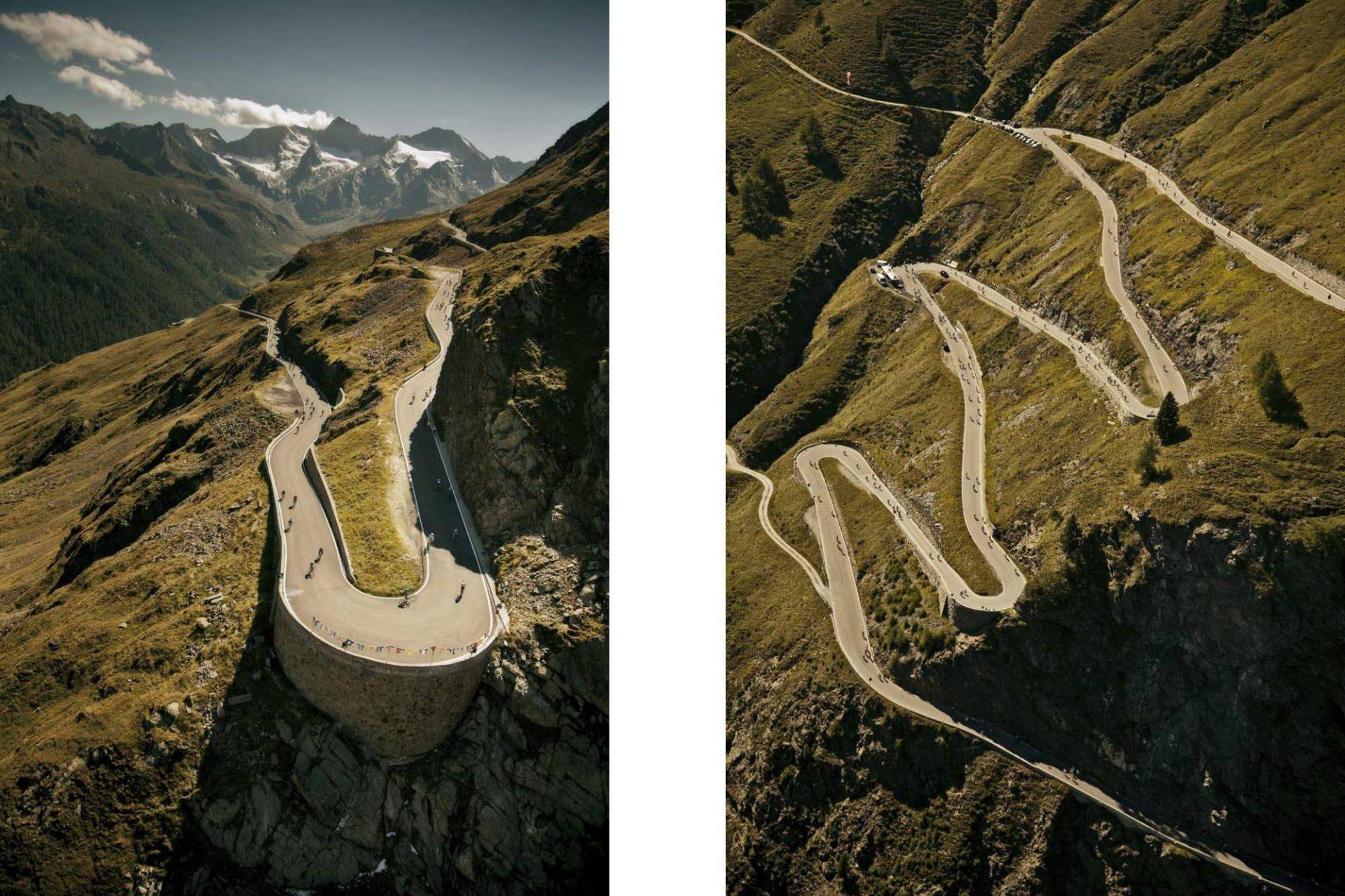 Timmelsjoch Passstraße. Über 70 Serpentinen verbindet die Passstraße das österreichische Bundesland Tirol mit der italienischen Provinz Südtirol.