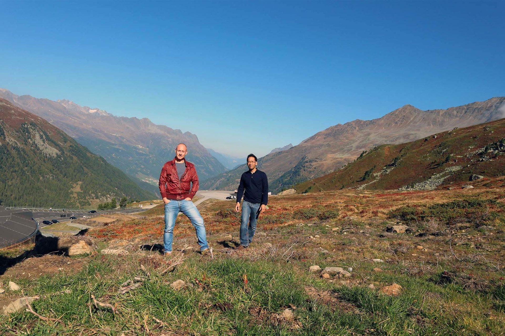 Gute Aussichten.  THE LINK-Autoren und -Gründer Jan Dimog und Hendrik Bohle